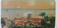 Vista de Santa Cruz de La Palma Avda del Puente -J.B.F-1884.